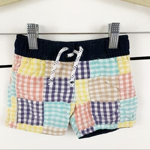 BABYGAP Checkered Swimsuit Lined 6-12 months